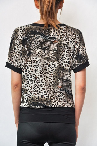 Блузка женская с леопардовым рисунком арт. 204502